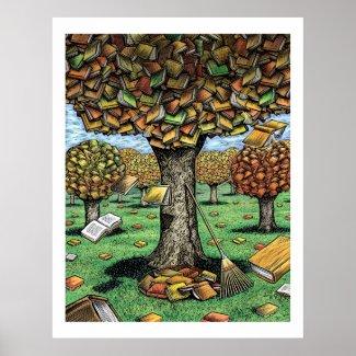 Book Tree Poster print