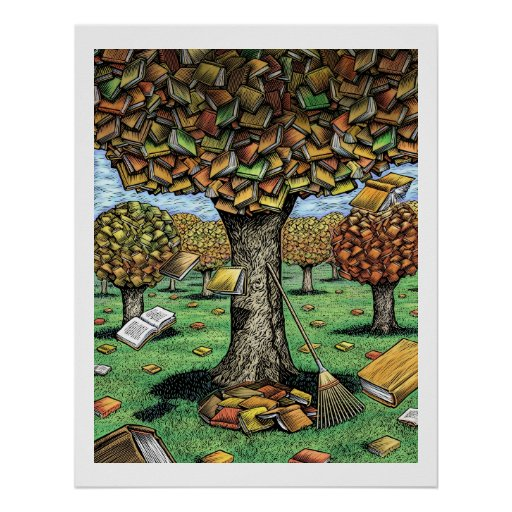 Book Tree Poster