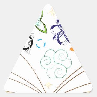 Book Triangle Sticker