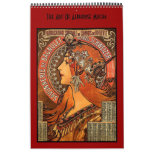 Book Vintage Alphonse Mucha 14 Images Famous Art Calendars