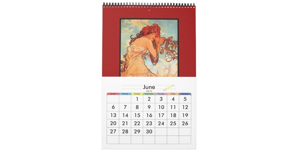 Art Calendar Book : Book vintage alphonse mucha images famous art calendar