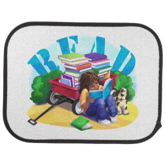 Book Wagon Car Floor Mat
