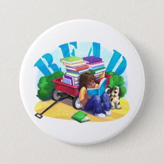 Book Wagon Pinback Button