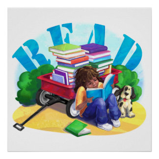Book Wagon Poster