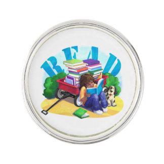 Book Wagon READ Lapel Pin