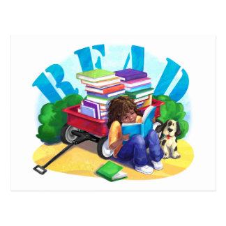 Book Wagon READ Postcard