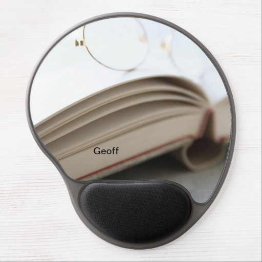 Book with glasses gel mousepad