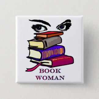 Book Woman Button