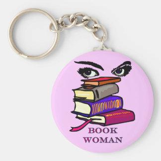 Book Woman Keychain
