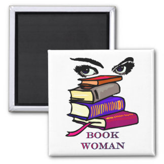 Book Woman Magnet