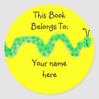 Book Worm, Book Plate