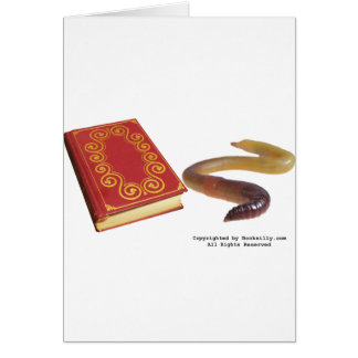 Book Worm Card