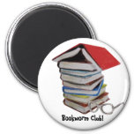 Book worm club magnet
