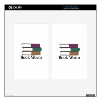 Book Worm Decal For Kindle Fire