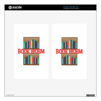 Book Worm Decals For Kindle Fire