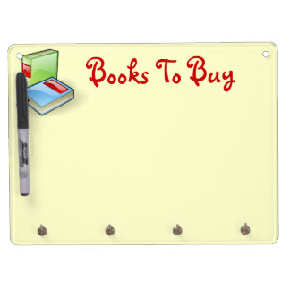 Book Worm Dry Erase Board With Keychain Holder