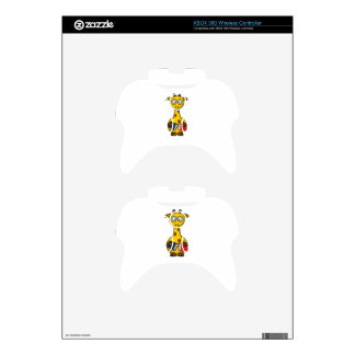 Book Worm Giraffe Cartoon Xbox 360 Controller Skin