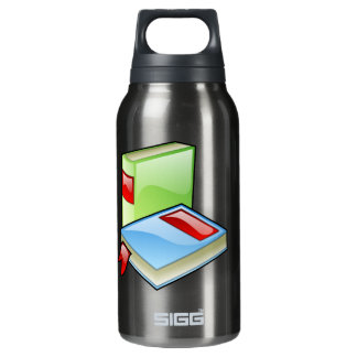 Book Worm Insulated Water Bottle