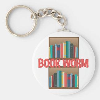 Book Worm Keychain