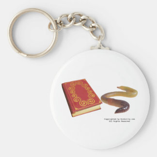 Book Worm Keychain