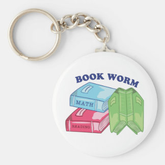 Book Worm Key Chain