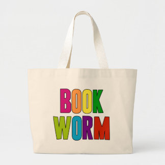 Book Worm Large Tote Bag