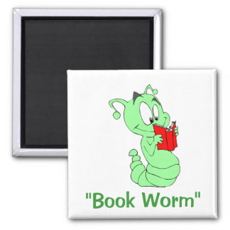 """""""Book Worm"""" Magnet"""