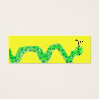 Worm business cards templates zazzle book worm mini bookmarks mini business card reheart Choice Image