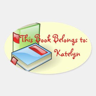 Book Worm Oval Sticker