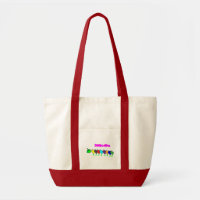 BOOK WORM RED AND WHITE FASHION BOOK BAG bag