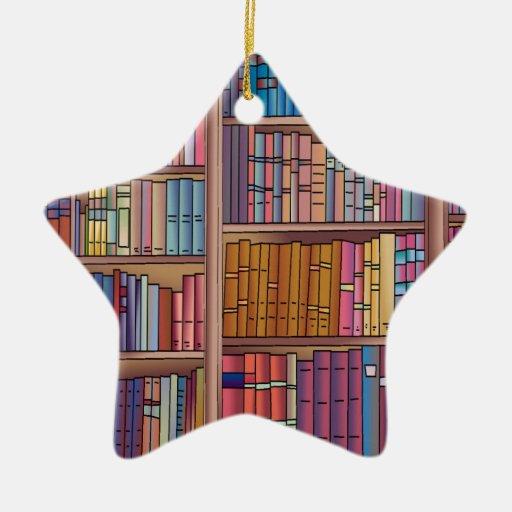 Book Worm Star Ceramic Ornament