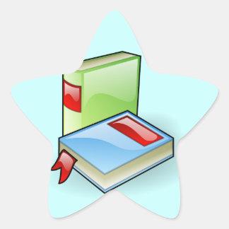 Book Worm Star Sticker