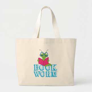 Book Worm Tote Bags