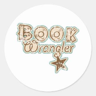 Book Wrangler Classic Round Sticker
