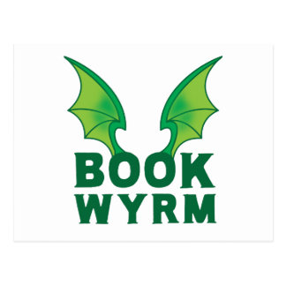 BOOK WYRM POSTCARD