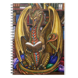 Book Wyrm Reading Dragon Notebook