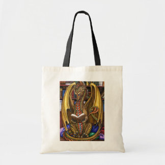 Book Wyrm Reading Dragon Tote Bag