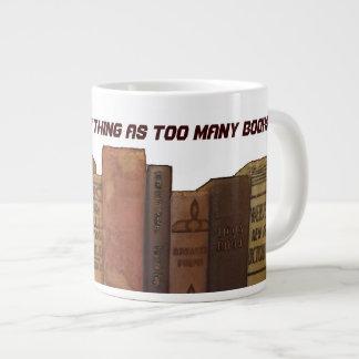 Bookaholic humor 20 oz large ceramic coffee mug