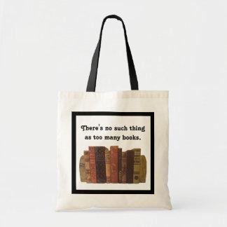 Bookaholic humor tote bag