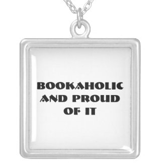 Bookaholic Silver Plated Necklace