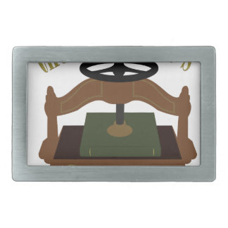 Bookbinders Craft Rectangular Belt Buckle