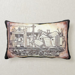 Bookbinders Tools Art Throw Pillow