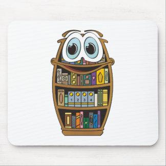 Bookcase Cartoon Mouse Pad