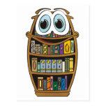 Bookcase Cartoon Post Cards