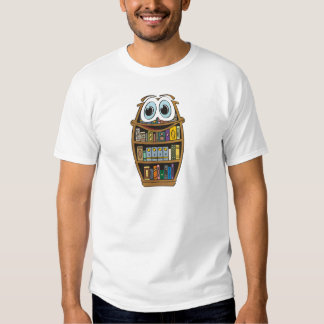 Bookcase Cartoon T-shirt
