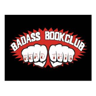 Bookclub de Badass Tarjeta Postal