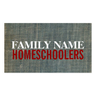 Bookcover Homeschoolers Business Cards