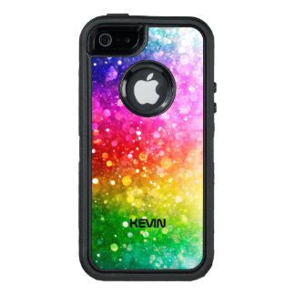 Booked Glitter Texture Modern Colorful Pattern OtterBox Defender iPhone Case