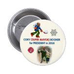 Booker de Cory para el presidente 2016 Pin Redondo 5 Cm