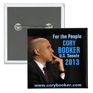 Booker de Cory para el senado Pins